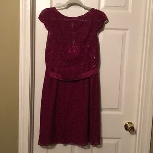 Berry bridesmaid dress